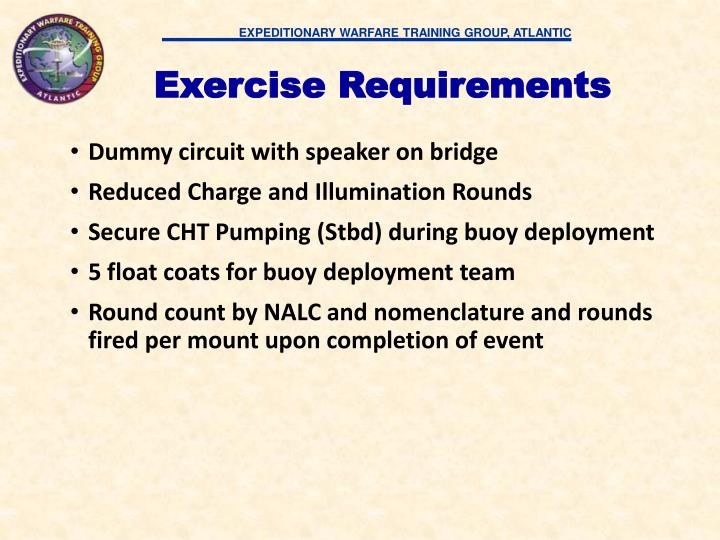 Exercise Requirements