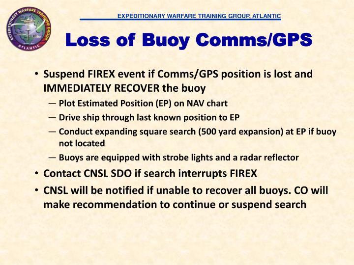 Loss of Buoy Comms/GPS