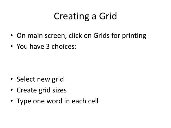 Creating a Grid