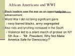 african americans and wwi