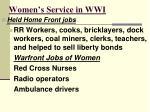 women s service in wwi