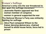women s suffrage