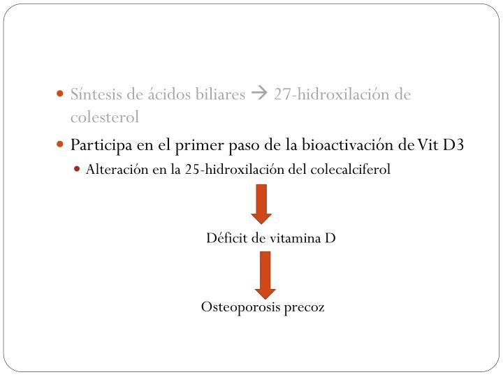 Síntesis de ácidos biliares
