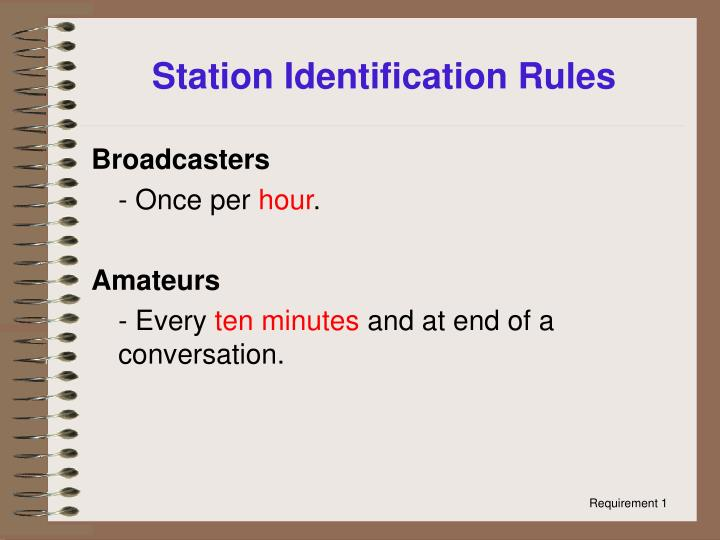 Station Identification Rules