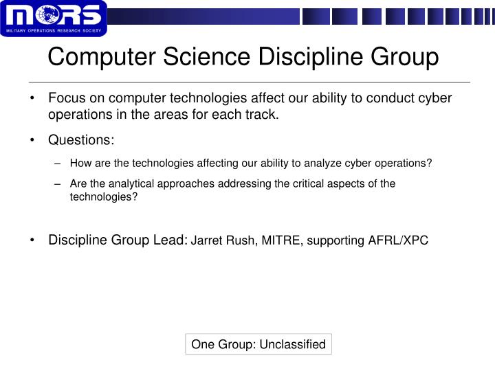 Computer Science Discipline Group