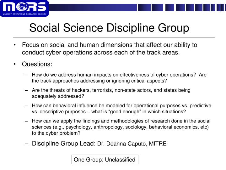 Social Science Discipline Group