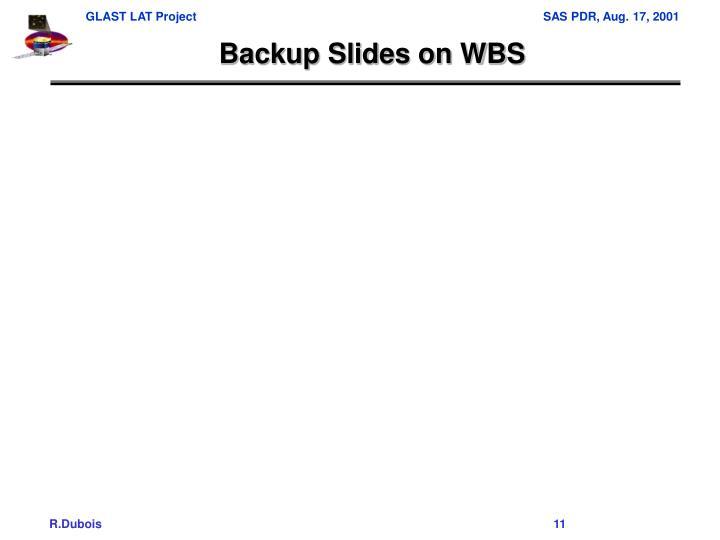 Backup Slides on WBS