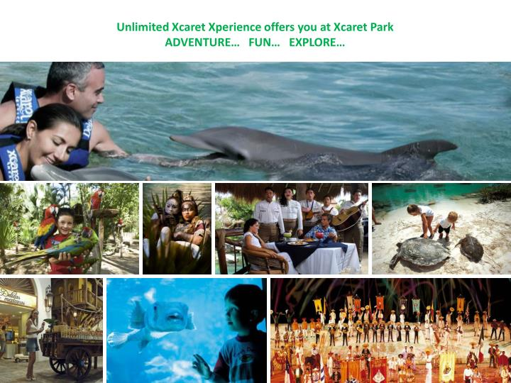 Unlimited Xcaret Xperience offers you at Xcaret Park
