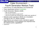 cyber environment fourth generation warfare track