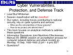cyber vulnerabilities protection and defense track