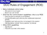 dco rules of engagement roe