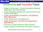 unclassified and classified tracks