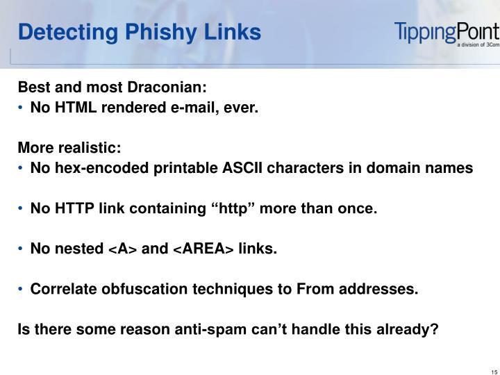 Detecting Phishy Links