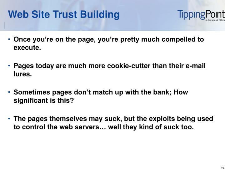Web Site Trust Building