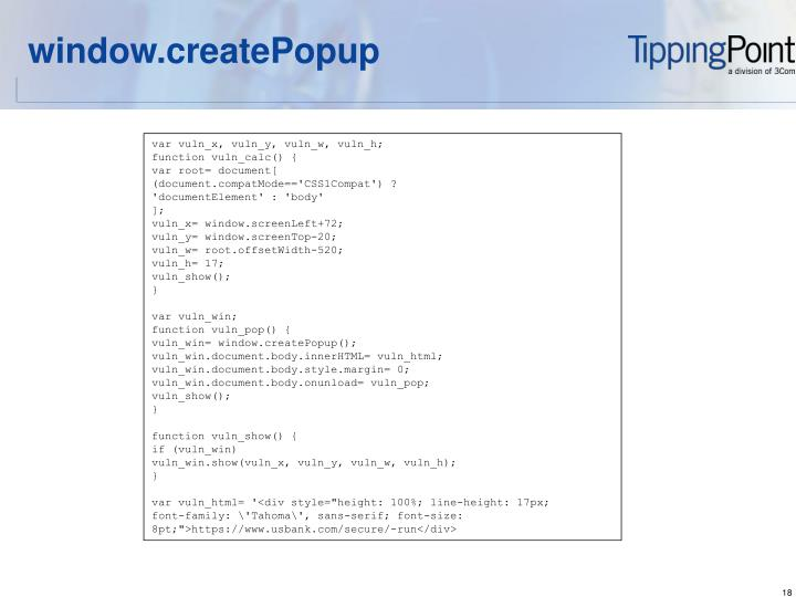 window.createPopup