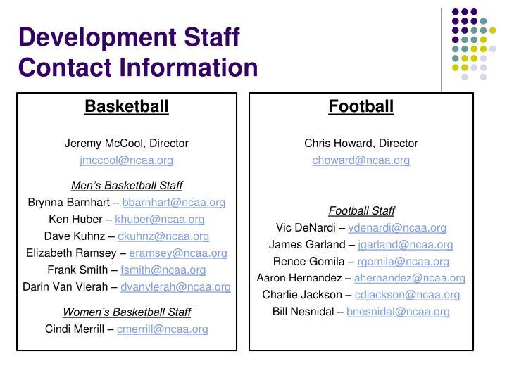 Development Staff