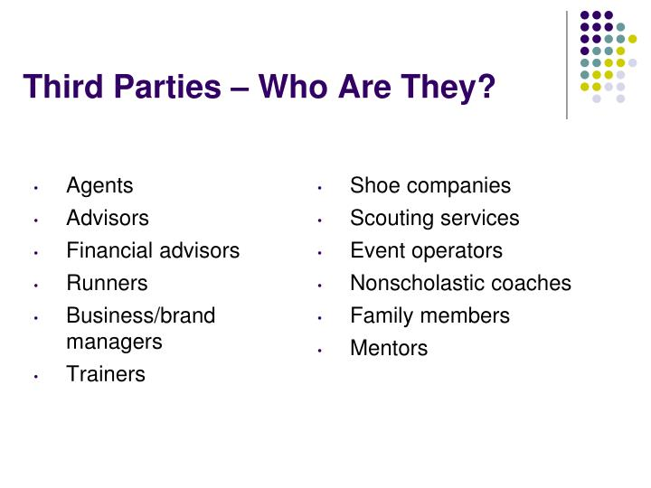 Third Parties – Who Are They?