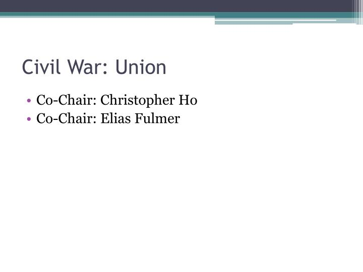 Civil War: Union