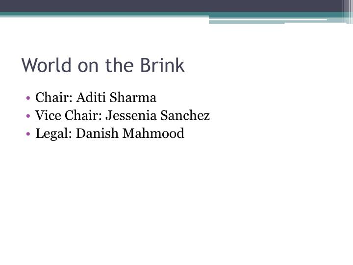 World on the Brink