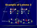 example of lemma 2