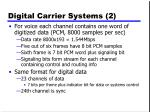 digital carrier systems 2