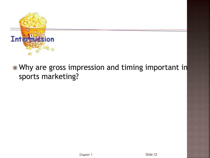 Why are gross impression and timing important in sports marketing?