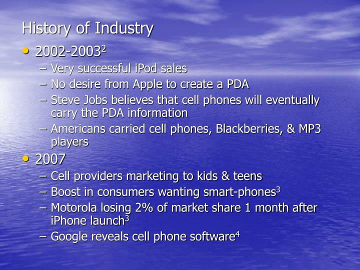 History of industry