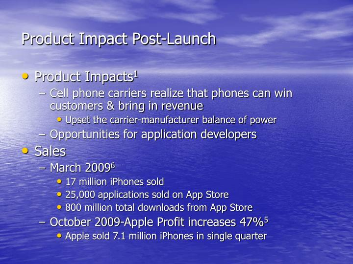 Product Impact Post-Launch