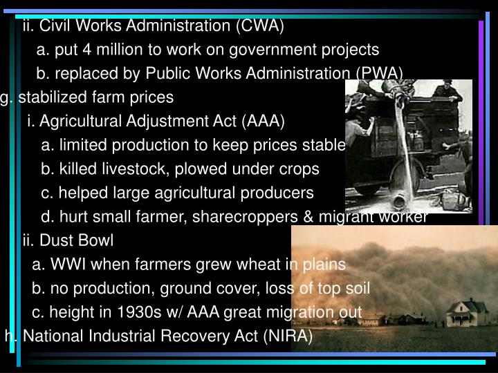 ii. Civil Works Administration (CWA)