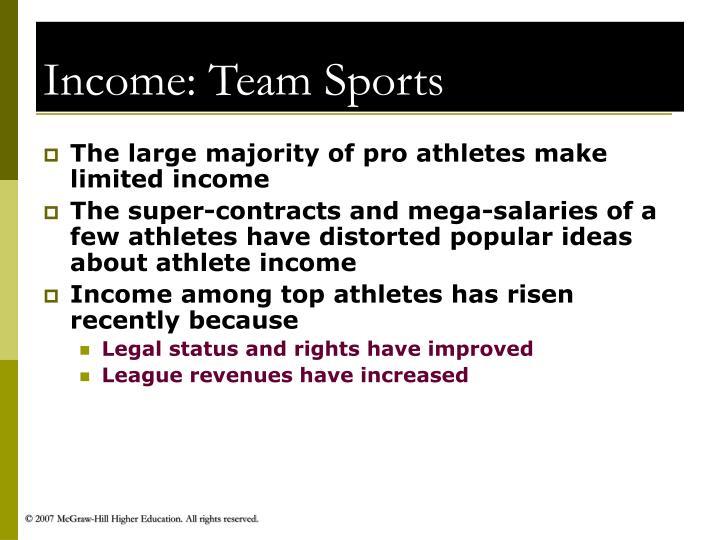 Income: Team Sports