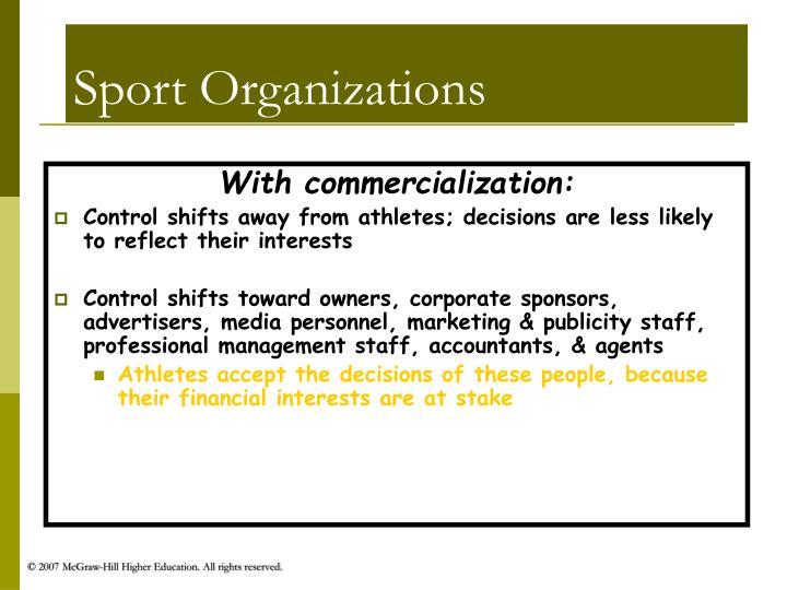 Sport Organizations