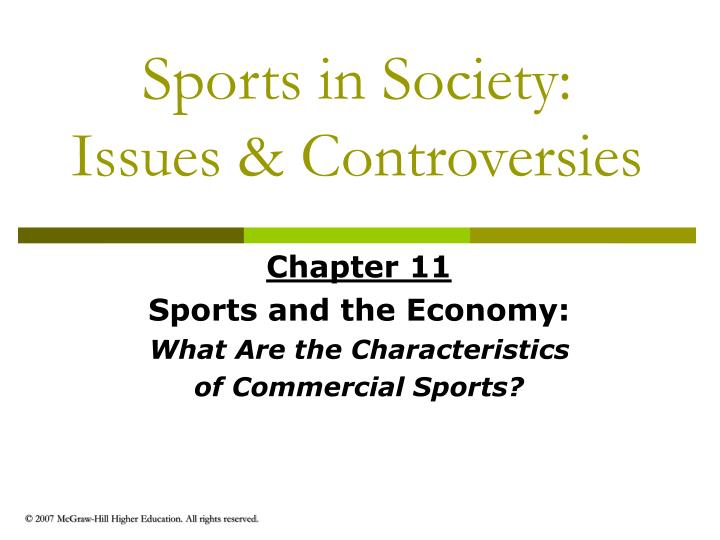 Sports in society issues controversies