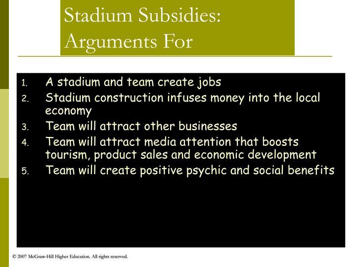 Stadium Subsidies: