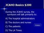 jcaho basics 200