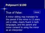 potpourri 100