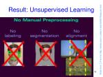 result unsupervised learning