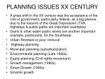 planning issues xx century