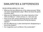 similarities differences1