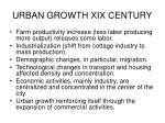 urban growth xix century