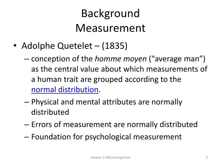 Background measurement