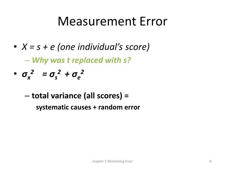 Measurement Error