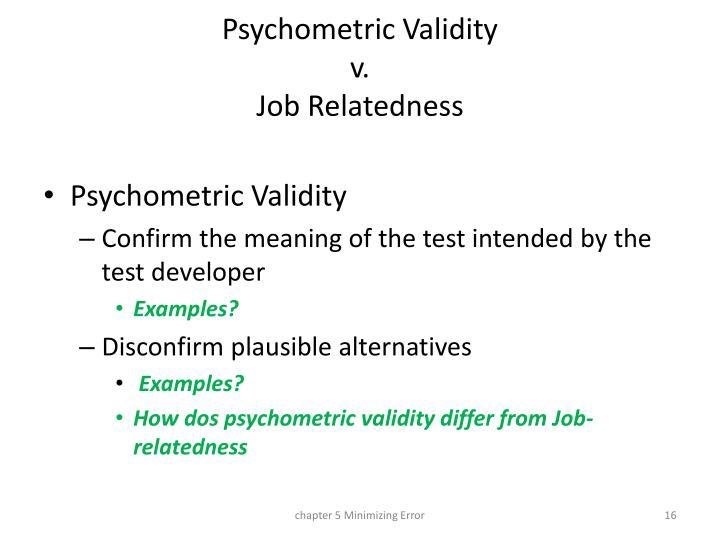 Psychometric Validity