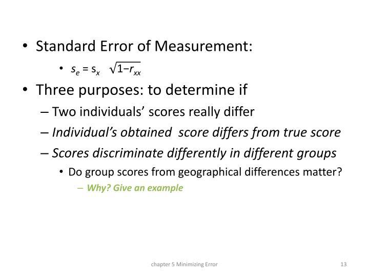Standard Error of