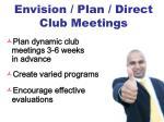 envision plan direct club meetings