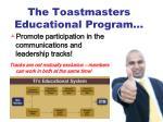 the toastmasters educational program