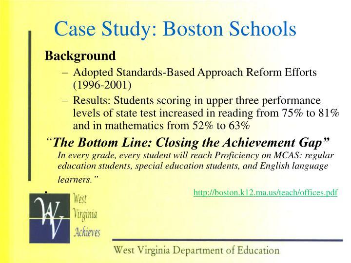 Case Study: Boston Schools