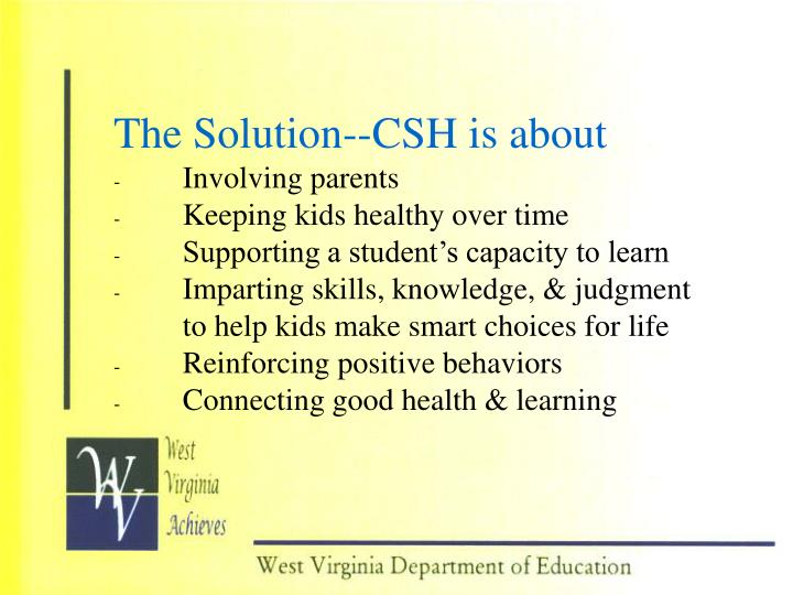 The Solution--CSH is about