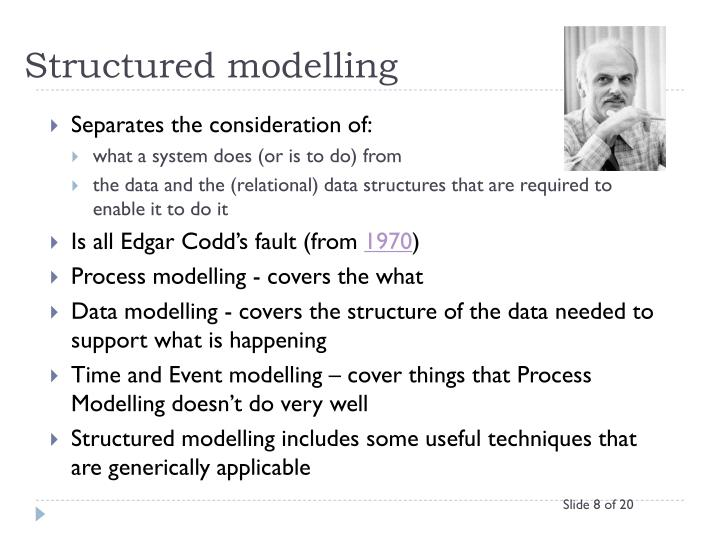 Structured modelling