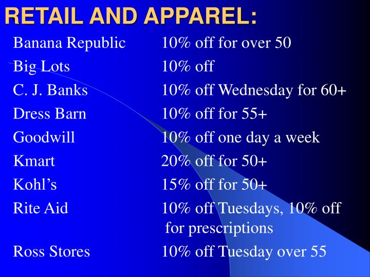 RETAIL AND APPAREL: