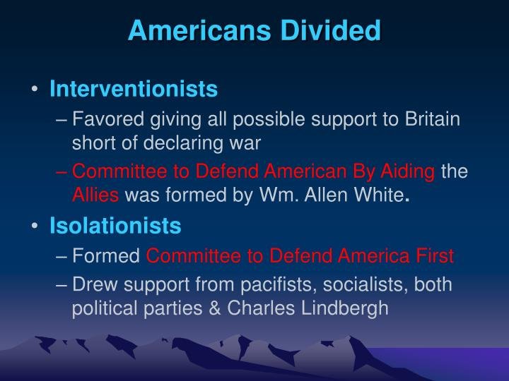Americans Divided